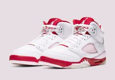 Where To Buy The Air Jordan 5 GS Pink Foam Nike Air Jordan Retro, Nike Sb, Retro Sneakers, Sneakers Nike, Jordan Model, Running Shoes For Men, Red Shoes, Air Jordans, Pink