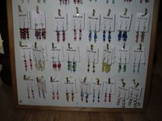some of the ear rings I made