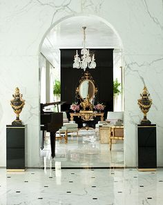 Marble, black, white, gold, beautiful color combo!