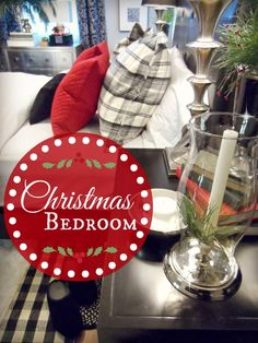 FOCAL POINT STYLING: CHRISTMAS BEDROOM WITH LAYERS OF WINTER WARMTH