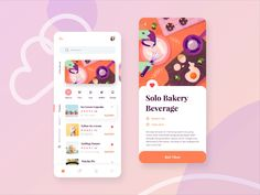 Bakery and Beverages Mobile App Exploration designed by Yannywd for Paperpillar. Connect with them on Dribbble; Web Design, App Ui Design, Flat Design, Android Design, Graphic Design, Application Ui Design, Application Mobile, Mobile Applications, Windows Xp