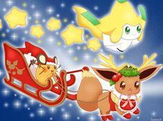 hola a todos ,finalmente pude terminar mi dibujo navideño,esta vez dedenne y yo (recuerden que yo soy un jirachi XD) nos ocuparemos de repartir los regalos junto a la pequeña ...