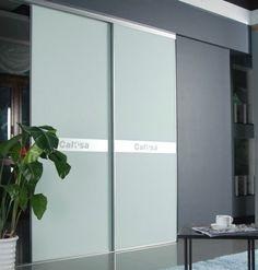 China CY-ZG103A Bedroom Glass wardrobe Closet Sliding Door, Dustproof Aluminum Interior Sliding Door Factory suppliers