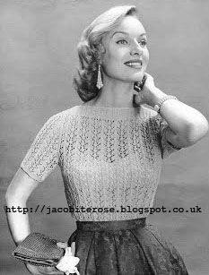 The Vintage Pattern Files: 1950s Knitting - Lacy Blouse