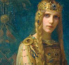 Gaston Bussiere / Femme a la couronne   la princesse Celte
