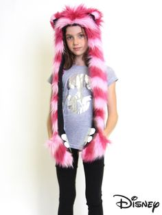 "CHESHIRE CAT  ""Which way you ought to go, depends on where you want to get."" -Cheshire Cat #SpiritHoods   Wish this was adult sized....and that the Simba and Winnie the Pooh ones still existed."