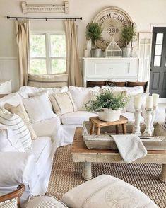 36 Rustic Farmhouse Living Room Design and Decor Ideas