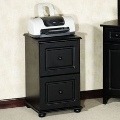 auston black file cabinet