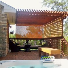Hanging Bamboo Blinds Outside For Temporary Privacy