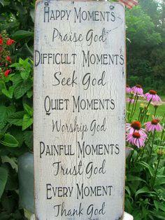 Distressed wood sign with inspirational message Prayer Room, My Prayer, Prayer Garden, Meditation Garden, Meditation Prayer, Worship God, Seeking God, How To Distress Wood, Praise God
