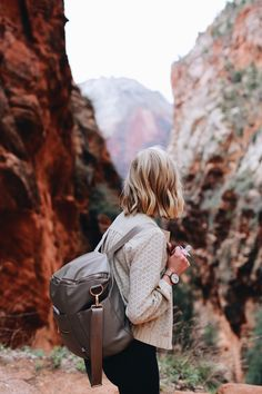 Zion National Park (Something Devine) Zion National Park, National Parks, Fawn Design Diaper Bag, Voyager C'est Vivre, Travel Destinations, Places To Travel, Skier, Road Trip, I Want To Travel