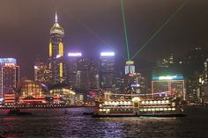 Symphony of Lights, Hong Kong - The best viewing locations of this nightly spectacle are along the Tsim Sha Tsui waterfront between the Avenue of Stars and the Hong Kong Cultural Centre, the promenade at Golden Bauhinia Square in Wanchai, and from sightseeing ferries in the Victoria Harbour.
