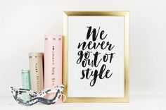 TAYLOR SWIFT POSTER We Never Go Out Of Style by TypoHome on Etsy