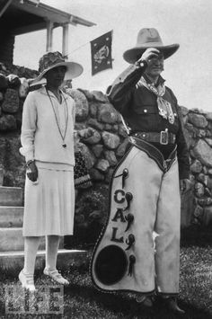 President Coolidge dressing up for the 4th of July, 1927.