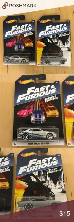Hot Wheels Fast & Furious edition bundle Fast & Furious edition hot wheels Dominic Toretto's (Vin Diesel) '70 Plymouth Road Runner & Brian O'Conner's (Paul Walker) Nissan Skyline, New in package Hot Wheels Other