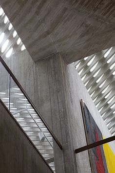 Clyfford Still Museum by Allied Works Architecture.  View of ceiling.
