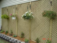 must do this to our carport! Keeps out the junk and adds privacy...
