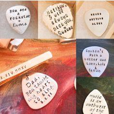 Quote Custom Guitar Pick Music Guitar Pick by BlueCornerCreasigns