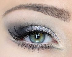 Here court maybe an Audrey eye make-up silver sparkle smokey eye