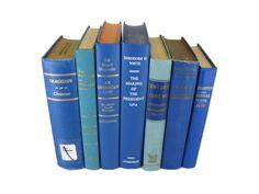 Blue Vintage Books Vintage Wedding Decor by DecadesOfVintage