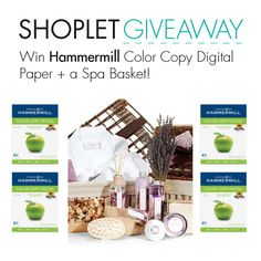 #WIN a bunch of Hammermill Digital Copy Paper PLUS a Spa Basket!! Follow, Repin and leave us a comment on our blog about why you need more copy paper! Winners will be announced September 15th. Good luck! #GIVEAWAY!