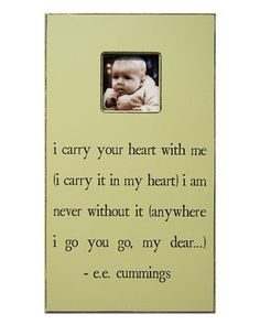 SugarBoo Designs 'I Carry Your Heart' 11x20 Frame