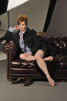 bohemea: Christina Hendricks - London Fog Photoshoot