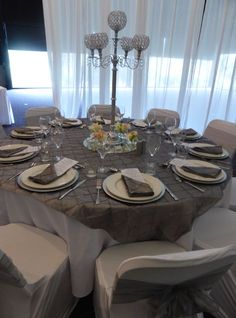 The Tailrace Centre is a modern and fresh venue for both events, conferences and weddings in Launceston. Also home to the Tailrace Cafe and Kids Paradise. Centre, Table Settings, Workshop, Events, Colours, Bridal, Elegant, Grey, Modern