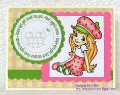 Purpleglo Creations: Little girl Get Well Card For Mojo Monday Using Cricut Art Philosophy Cartridge.  See more creations at http://purpleglocreations.blogspot.com