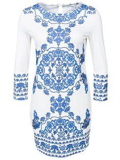 Summer Dress - Nly Trend - White/Blue - Festklänningar - Kläder - Kvinna - Nelly.com