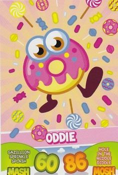 moshi monsters oddie | Topps No.23 Oddie Foodies Moshi Monsters Mash Up Trading Card