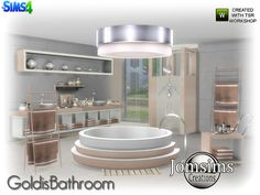 here for your sims. Goldis bathroom modern. Found in TSR Category 'Sims 4 Bathroom Sets'
