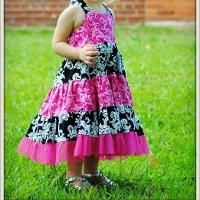 Tiered Dress Girls Sewing Pattern - via @Craftsy