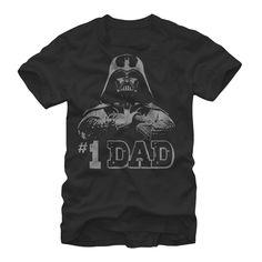 Star Wars Men's - Number One Father Darth Vader T Shirt #FifthSun #StarWars #FathersDay #DarthVader