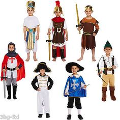 Boys #fancy dress up #costume outfit age 4-9 knight #roman musketeer egyptian new, View more on the LINK: http://www.zeppy.io/product/gb/2/141983951397/