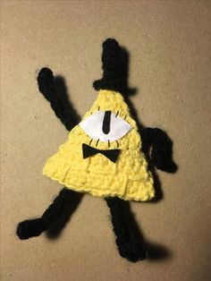 Crocheted bill cipher from Gravity Falls