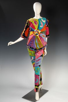 Emilio Pucci, Italy Sold by Lord & Taylor Velveteen, silk, cotton