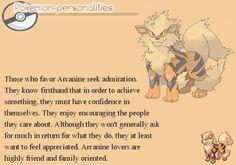 Pokemon Personalities - Arcanine - #059/719.
