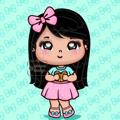 Kawaii Chibi, Wood Bridge, Art For Kids, Cute Girls, Art Projects, Minnie Mouse, Disney Characters, Fictional Characters, Doodles