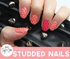 Syl and Sam are back with #manicuremonday and this one is catered towards #studweek! Check out their awesome studded nail tutorial on our blog.