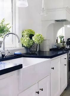 black kitchen as an accent - Google Search