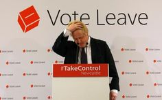 Boris Johnson, the Mayor of London, at a Vote Leave rally in Newcastle
