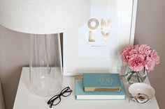 #EQ3Spotted Christine's Master Bedroom featuring Bliss Table Lamp (Photography by Just Bella Blog)