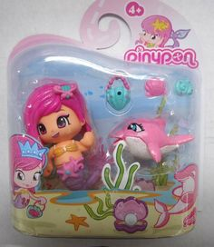 Pinypon Fairy Friends: Pink Hair Doll & Dolphin NEW FOR 2014