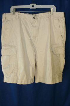 Nautica 0830 NSC Contract #1983 Cargo Shorts Distressed Light Tan (Mens 40) 1390 #Nautica #Cargo