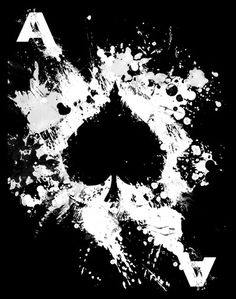 Poker♠Ace of Spades by JipJive Ace Of Spades Tattoo, Ass Tattoo, Spade Tattoo, Cool Playing Cards, Ace Card, Ace Of Hearts, Skull Artwork, Skull Wallpaper, Unique Cards