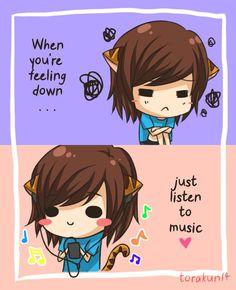 Torakun Comics :: Just listen to music   Tapastic - image 1