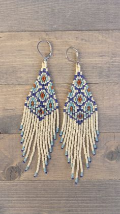 Seed Bead Earrings Jewelry Boho Brick Sch Fringe