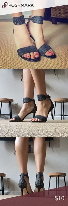Ivanka Trump Black Leopard Strap Heels --(Please don't judge me for owning an IT product 🙈 I bought these two years ago!) -- Truth be told I LOVE the shape of this very comfortable heel. I hand waxed the leopard print to a darker grey/ black, thus the markings. Sold as is, its just a shame for these to not be worn still as they are a beautiful shape and in worn-but-great condition! Ivanka Trump Shoes Heels