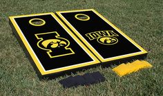 Iowa Hawkeyes Cornhole Boards Corn Hole Game Set Alt Border Version
